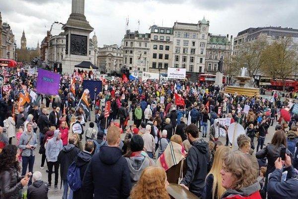 مردم اسپانیا نسبت به سیاست های مالی دولت اعتراض کردند